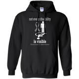 Not every disability is Visible! Parkinson's Awareness Hoodie