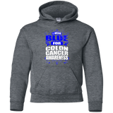 I Wear Blue for Colon Cancer Awareness! KIDS Hoodie