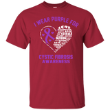 I wear Purple for Cystic Fibrosis... T-Shirt