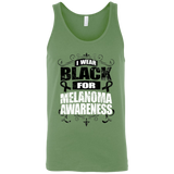 I Wear Black for Melanoma Awareness! Tank Top