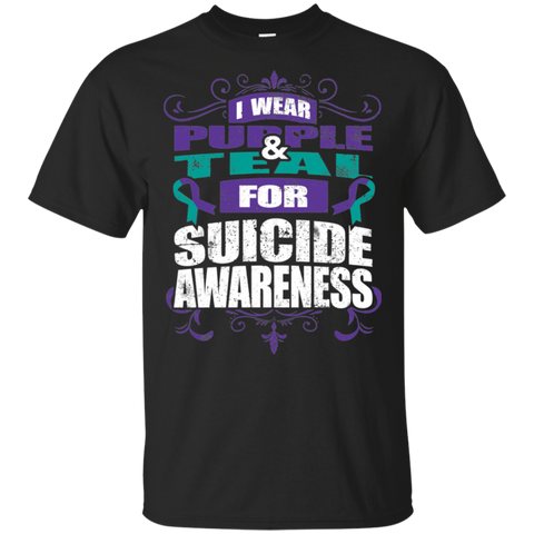 I Wear Teal & Purple for Suicide Awareness! T-shirt