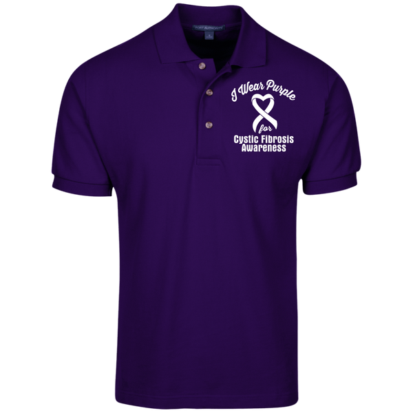 I Wear Purple for Cystic Fibrosis Awareness... Knit Polo