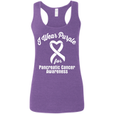 I Wear Purple for Pancreatic Cancer Awareness... Racerback Tank