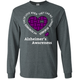 We remember their love! Alzheimer's Awareness Long Sleeve T-Shirt