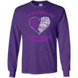 I wear Purple for Crohn's & Colitis... Long Sleeved & Sweater