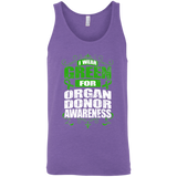 I Wear Green for Organ Donor Awareness! Tank Top