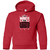 I Wear White for Lung Cancer Awareness! KIDS Hoodie