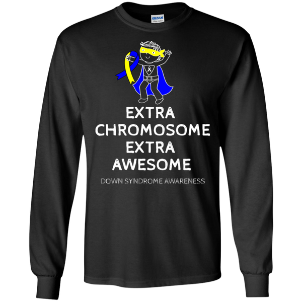 Extra Awesome! Down Syndrome Awareness Long Sleeve T-Shirt