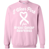 I Wear Pink For Breast Cancer Long Sleeve T-Shirt