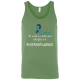 The world is a better place with you in it! Suicide Prevention Awareness Tank Top