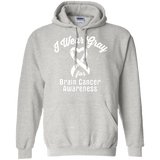 I wear Gray For Brain Cancer Awareness - T-Shirt & Hoodie Collection