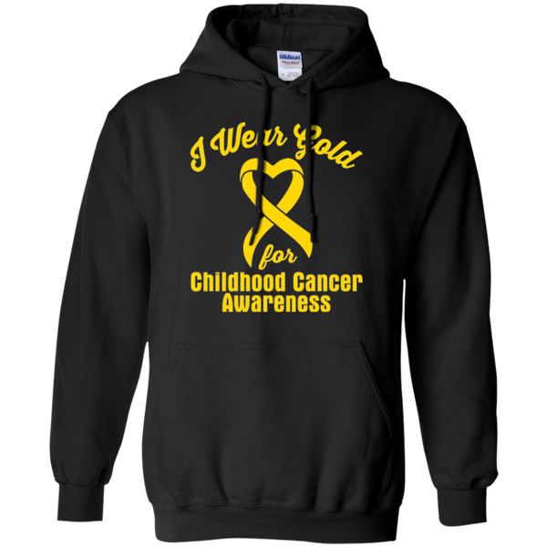 I Wear Gold! Childhood Cancer Awareness Hoodie
