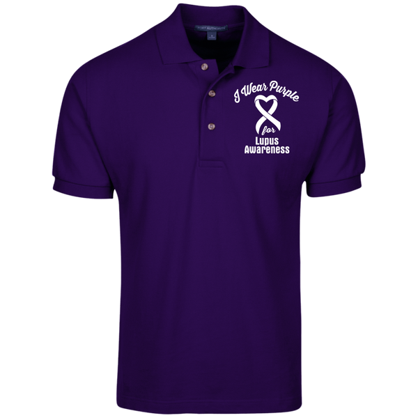 I Wear Purple for Lupus Awareness... Knit Polo