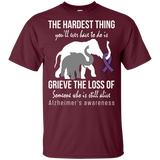 The hardest thing... Alzheimer's Awareness KIDS t-shirt