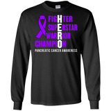 HERO! Pancreatic Cancer Awareness Long Sleeve T-Shirt