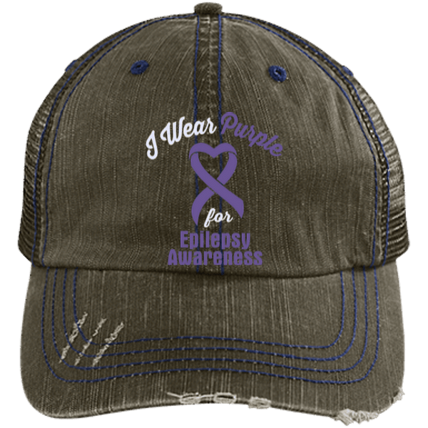 Epilepsy - Distressed Trucker Cap