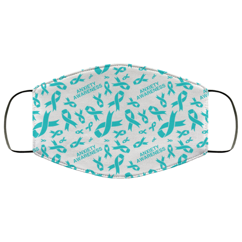Anxiety Awareness Ribbon Face Mask