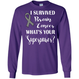 I Survived Brain Cancer! Long Sleeve T-Shirt