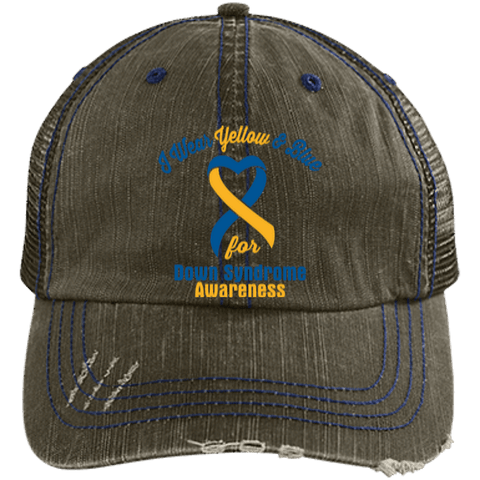 Down Syndrome - Distressed Trucker Cap