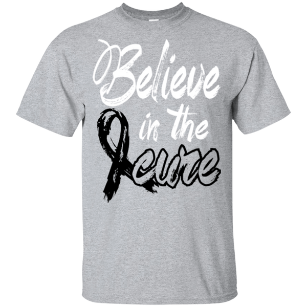 Believe in the cure - Melanoma Awareness Kids t-shirt