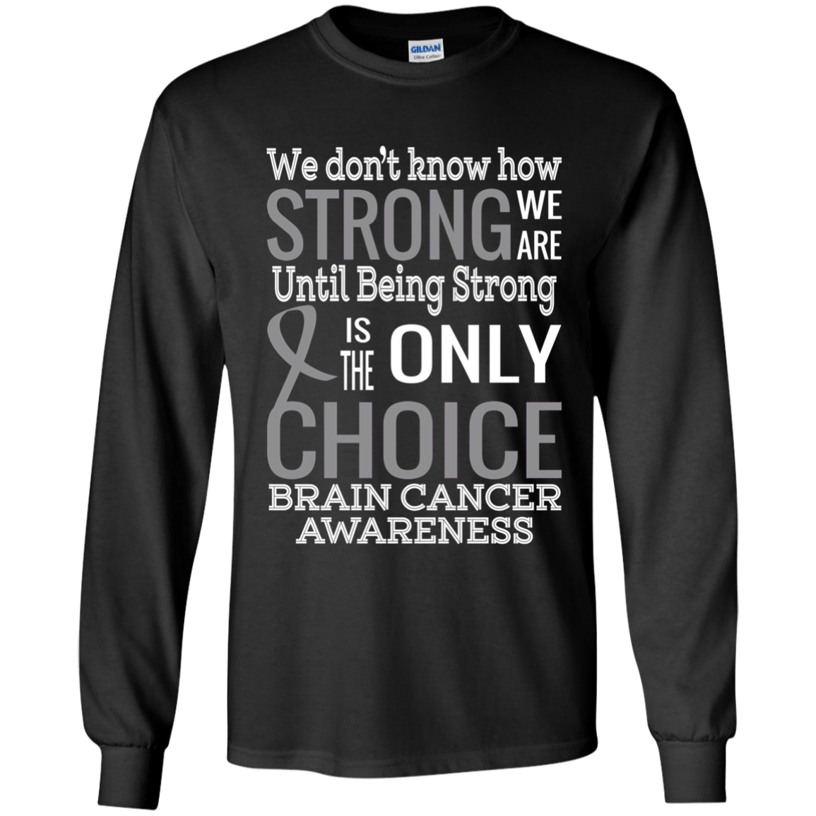 d6d8e134 How Strong we are! Brain Cancer Awareness Kids Collection – The ...