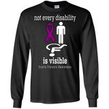 Not every disability is visible! Cystic Fibrosis Awareness Long Sleeve T-Shirt