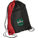 Colorblock Cinch Pack - Believe & Hope for a cure....