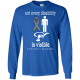 Not every disability is visible! Parkinson's Awareness Long sleeved T-Shirt