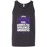 I Wear Purple for Domestic Violence Awareness! Tank Top