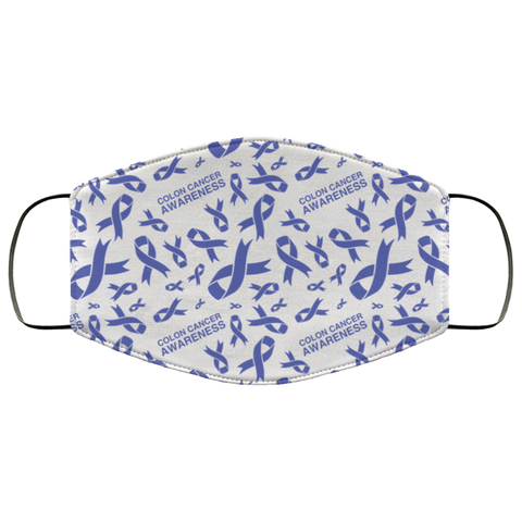 Colon Cancer Awareness Ribbon Face Mask
