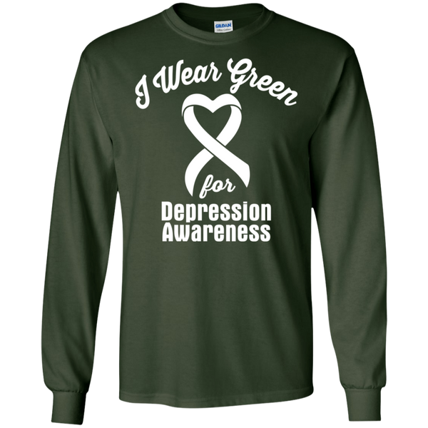 I Wear Green! Depression Awareness Long Sleeve T-Shirt