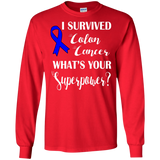 I Survived Colon Cancer! Long Sleeve T-Shirt