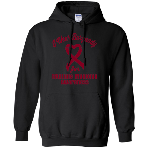 I Wear Burgundy! Multiple Myeloma Awareness Hoodie
