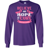 Believe & Hope Breast Cancer Awareness Long Sleeve T-Shirt