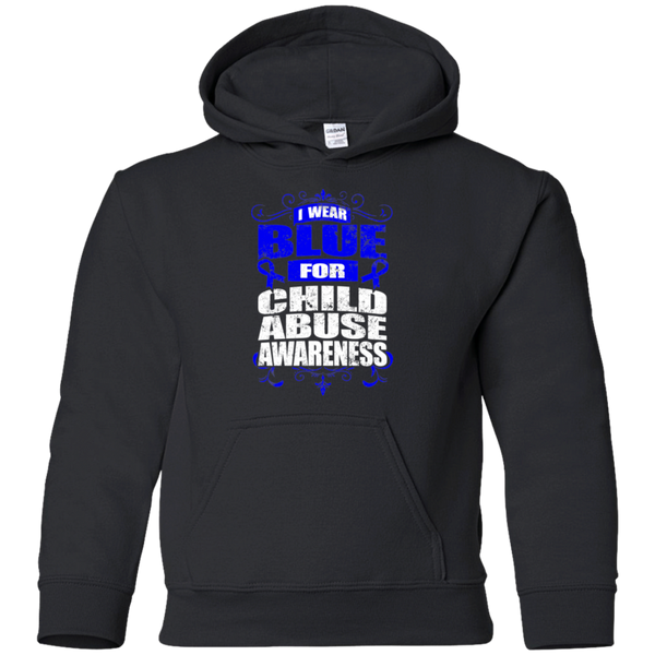 I Wear Blue for Child Abuse Awareness! KIDS Hoodie
