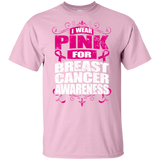 I Wear Pink for Breast Cancer Awareness! KIDS t-shirt