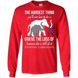 The hardest thing... Alzheimer's Awareness Long Sleeve T-Shirt