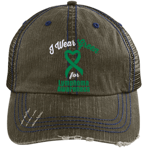 Lymphoma - Distressed Trucker Cap
