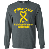 I Wear Gold! Childhood Cancer Awareness Long Sleeve T-Shirt