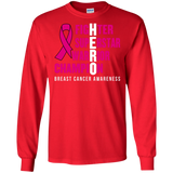 HERO! Breast Cancer Awareness Long Sleeve T-Shirt
