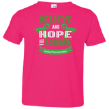 Toddler Jersey Tee - Believe & Hope for a cure....