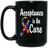 Acceptance is the Cure - Autism Awareness Mug