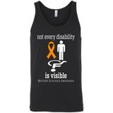 Not every disability is visible! MS Awareness Tank Top