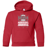 I Wear Silver for Parkinson's Awareness! KIDS Hoodie