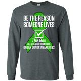 Tick The Box! Organ Donor Awareness Long Sleeve T-Shirt