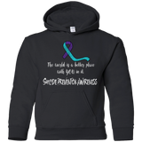 The world is a better place with you in it! Suicide Prevention Awareness KIDS Hoodie