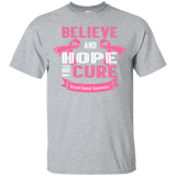 Believe & Hope Breast Cancer Awareness T-Shirt