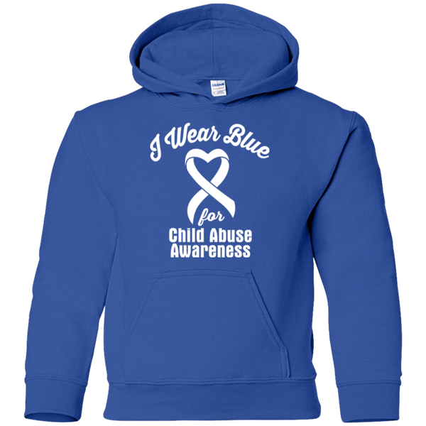 I Wear Blue! Child Abuse Awareness KIDS Hoodie