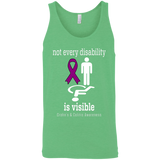 Not every disability is visible! Crohn's & Colitis Awareness Tank Top