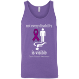 Not every disability is visible! Cystic Fibrosis Awareness Tank Top